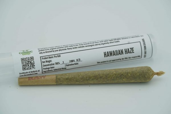 CBD Hawaiian Haze Preroll - Chronic Guru