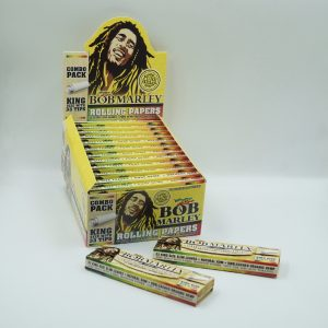 Bob Marley combo pack hemp rolling papers – king size with tips