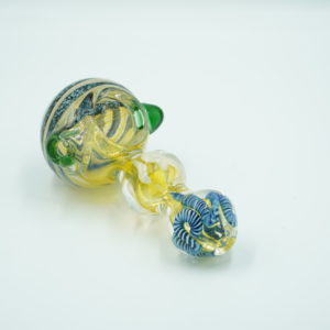 "Glass pipe 4"" – cosmic swirl dark blue"