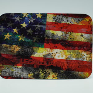 Backwoods American flag rolling tray with magnet.