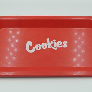 Cookies Red Metal Rolling Tray