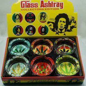 Bob Marley Glass Ashtray Collectors Edition